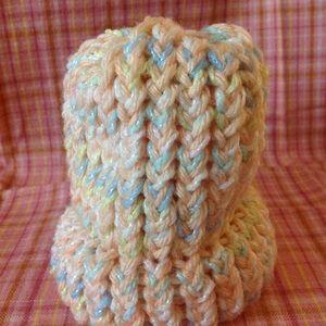 Knitted Newborn Baby Hat - Handmade by Cricket
